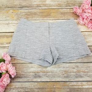 ⬇$55 Ann Taylor LOFT Twill Black White Shorts Sz 6